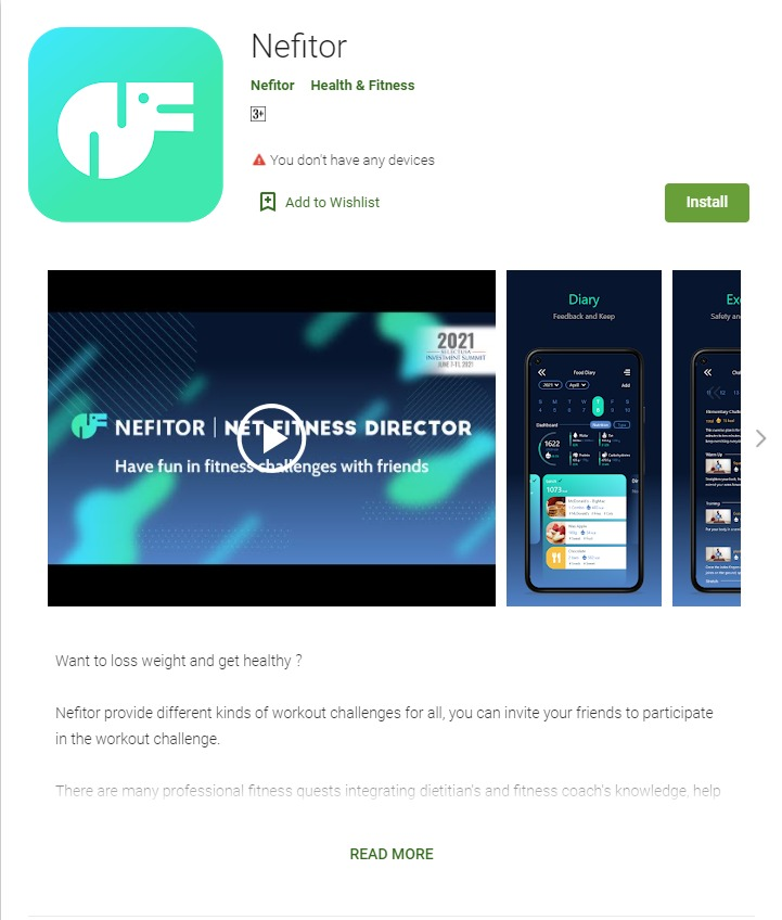 Nefitor Released in Google Play